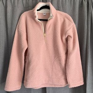 NWT Light Pink Sherpa Pull Over